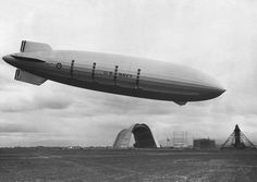 Zeppelin -  USS Macon (ZRS-5) at North Circle NAS Sunnyvale, Mt View, CA. This U.S. Navy Zeppelin was built in the United States by the Goodyear-Zeppelin company in 1933. It is shown here at the airfield later named Moffett Field, in Santa Clara County, California. by NASA-ARC, wikipedia #USS_Macon #Zeppelin #wikipedia #NASA_ARC