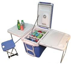 Blue Party Cart.   Don't have to go far from the cooler.  @Kirsten Wehrenberg-Klee Wehrenberg-Klee Giffen