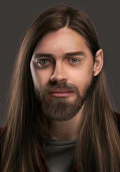 Tom Payne, Beautiful Long Hair, The Walking Dead, Animal Kingdom, Fanart, Long Hair Styles, Men, Long Hairstyle, Walking Dead