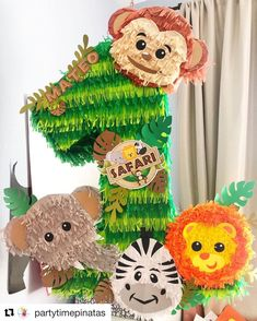 Do not miss this item from my shop Safary piñata / Noah's Ark / zoo animals Safari Theme Birthday, Birthday Pinata, First Birthday Party Themes, Wild One Birthday Party, Carnival Birthday Parties, Safari Party, 1st Birthday Girls, Birthday Party Decorations, Lion King Birthday