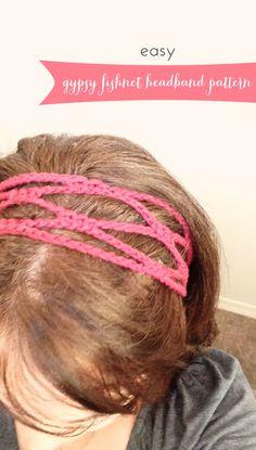 Gypsy Fishnet Headband pattern!