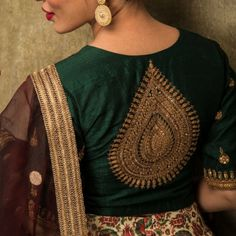 Shop for a variety of blouses in high neck, sleeveless, boat neck, sleeveless, embroidered & more online. Silk Saree Blouse Designs, Bridal Blouse Designs, Blouse Neck Designs, Blouse Patterns, Traditional Blouse Designs, Mirror Work Blouse Design, Fancy Sarees, Blouse Online, Indian Blouse