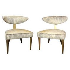 Pair of Monteverdi-Young Chairs | From a unique collection of antique and modern side chairs at https://www.1stdibs.com/furniture/seating/side-chairs/