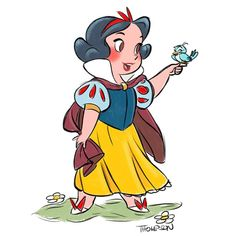 Baby Snow White by Disney artist Steve Thompson Disney Pixar, Arte Disney, Disney Animation, Disney And Dreamworks, Baby Disney, Disney Love, Disney Magic, Disney Characters, Disney Artwork