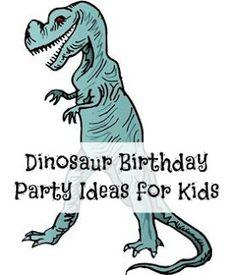 Dinosaur Birthday Party Ideas for Kids #dinosaur #birthdayparty #kids