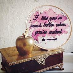 I like you so much better when you're naked . Embroidery by Clube do Bordado #clubedobordado #embroidery #bordado