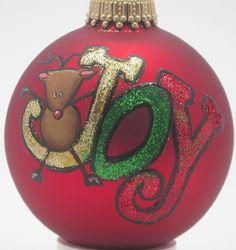 Joy christmas ornament $10.00 celeste_luna_creations@hotmail.com
