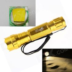 UltraFire LED 10W 1-Mode 800lm Bright Warm White Flashlight - Gold (1 x 18650 / 2 x CR123A). Note: We are currently unable to ship to addresses in HongKong, mainland of China.. Tags: #Lights #Lighting #Flashlights #LED #Flashlights #18650 #Flashlights