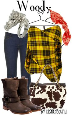 Toy Story: Woody inspired outfit by Disneybound at:  http://disneybound.tumblr.com/
