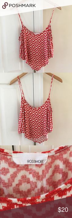 Nordstrom crop top❤️⚪️ Cute crop top purchased at Nordstrom. So cute and versatile. It's a bit stretchy and flowy so could fit several sizes. Only worn once and in perfect condition. I do accept REASONABLE offers!! Rossmore Tops Crop Tops