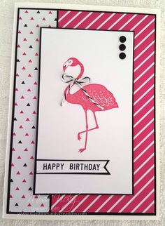 flamingo - Homemade Cards, Rubber Stamp Art, & Paper Crafts - Splitcoaststampers.com