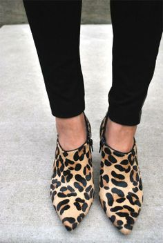 Leopard Print Booties via Nordstrom Rack