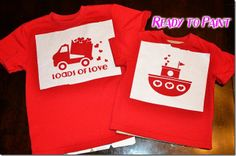 Valentines day shirts for boys tutorial and templates