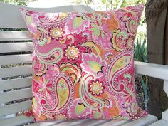 Indoor / Outdoor Pillow Cover  Pink Classic by InFullBloomCo, $29.00