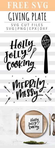 FREE Christmas Kitchen SVG Cut File Printable Vector Clip Art Download Free