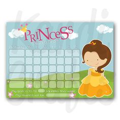 Princess Belle - Reward Chart
