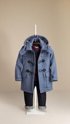 Burberry Wool Kids Duffle Coat http://rstyle.me/n/dwrbfr9te ...
