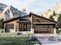 050H-0320: Modern Ranch House Plan; 1986 sf