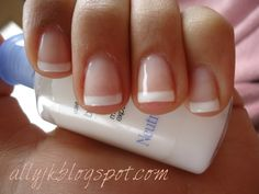 Ally's Nails: A Basic French Manicure - with gel nail polish!