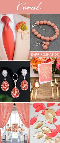 Coral Weddings inspirations- Don't forget coral personalized napkins to match your theme!! #coral  #wedding www.napkinspersonalized.com