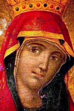 La virgen María.