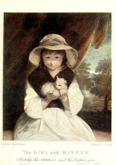 Girl and Kitten   engraving   Francesco Bartolozzi, after Joshua Reynolds