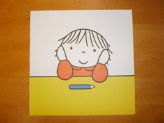Dick Bruna Girl thinking  Vintage children's by pureplusproducts, $9.00