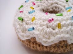Crochet donut~Just the cutest gifts for a little girls kitchen!