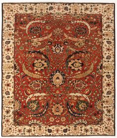 """Hand Knotted Indian Rug - 6'8"""" X 8' on Chairish.com"""