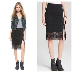 "{Free People} Black ""Story Teller"" Skirt So cute, measurements: waist 13"" (but stretchy), length 25"". Brand new with tags. SOLD OUT. ❗️Price is firm, even when bundled❗️  ❌ No Trades/ No PayPal  ❌ No Lowballing  ✅ Bundle Discounts ✅ Ship Same or Next Day  % Authentic Free People Skirts"