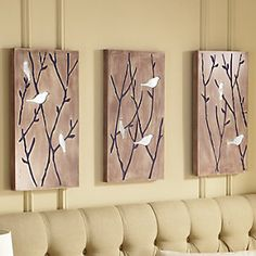 Set of 3 Dimensional Mirrored Bird Art from Through the Country Door® | C8451751