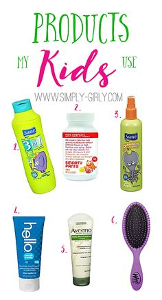 Products I use for my kids