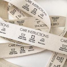 Twill, One Inch Ribbon, Spool - Flat or Folded, CUSTOM Printed Sew-in Fabric Label (natural and white) Clothing Packaging, Fashion Packaging, Clothing Labels, Fashion Branding, Custom Printed Fabric, Printing On Fabric, Printed Ribbon, Fabric Labels, Passementerie