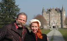 TV couple Dick Strawbridge and Angel Adoree rake in millions from their hit show Escape To The Chateau Property France, French Property, Angel Adoree, Angel Strawbridge, House Swap, French Chateau, The Chateau, Young Family, French Countryside