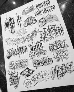 Lettering page 3 🙌 Thanks for looking Tattoo Lettering Alphabet, Tattoo Lettering Design, Hand Lettering Fonts, Graffiti Lettering, Tattoo Lettering Styles, Tattoo Script, Tattoo Fonts, 30 Day Writing Challenge, Letras Cool