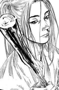 Samurai Drawing, Samurai Art, Manga Drawing, Manga Art, Manga Anime, Male Manga, Vagabond Manga, Inoue Takehiko, Graphic Novel Art