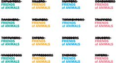 New Logo and Identity for Friends for Animals by MSLK