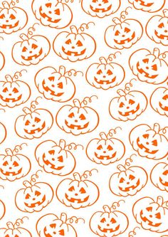 We love this printable scrapbook paper covered with cheeky jack o' lanterns - and we love the fact that you can print lots of copies without worrying too much about the printer ink! Use for scrapbook pages, cards, Halloween decor and more. Halloween Puzzles, Halloween Clipart, Halloween Activities, Halloween Themes, Halloween Pumpkins, Halloween Decorations, Halloween Printable, Halloween Celebration, Halloween Patterns