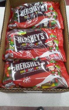 Seasonal Candy 38177: One Box (12 Pack) Of 8.5 Oz Hershey Holiday Miniature Bags -> BUY IT NOW ONLY: $35.99 on eBay!