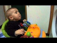 baby & his washing machine...