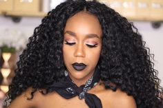 BLACK LIPSTICK MAKEUP TUTORIAL 2016