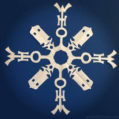 Doctor Who Paper Snowflake by Kit Cameo