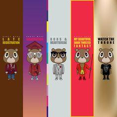 Find the best Kanye West Graduation Wallpaper on WallpaperTag. Beautiful Dark Twisted Fantasy, Dark And Twisted, Kanye West Bear, Graduation Wallpaper, Graduation Bear, West Art, Yeezy Season, Cool Cartoons, Art Google