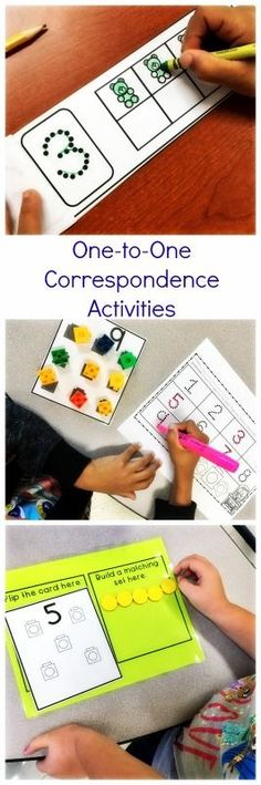 One to one correspondence activities in Maths for the early years.