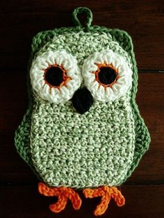 Funky Little Owl Potholder Crochet PDF Pattern by katyscrochet, $5.00