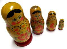 Primitive Early Matryoshka Russian Nesting by sweetie2sweetie, $49.99