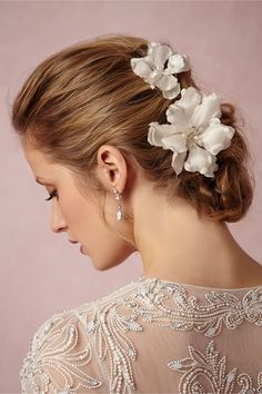 Magnolia Hairpins (set of 2) from BHLDN