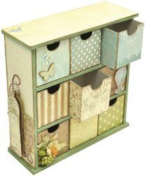 Amazon.com: Kaisercraft Beyond The Page MDF Medium Drawers, 8-Inch by 6-Inch by 2.9-Inch: Arts, Crafts & Sewing