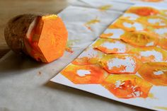 The Bee Tree {FI♥AR} - using potato stamp in shape of hexagon to make honeycomb