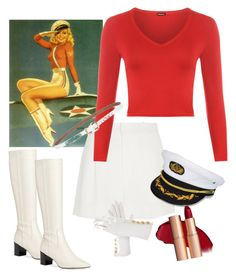"""""""Pin Up Girl💄"""" by parnett ❤ liked on Polyvore featuring Calvin Klein, Chloé, WearAll and Hermès"""